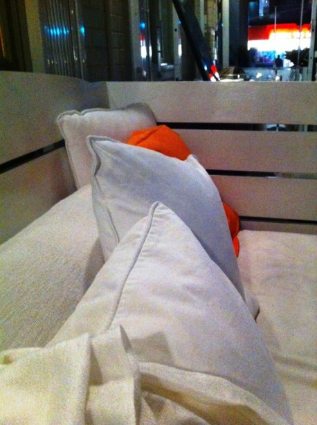 Cozy Cushions at Wish Restaurant, Toronto