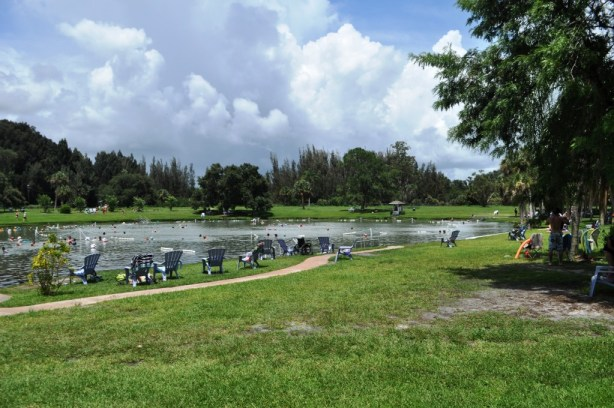 Dozens of people were taking one last soak before Warm Mineral Springs in North Port, Fla., closes indefinitely. June 30, 2103.