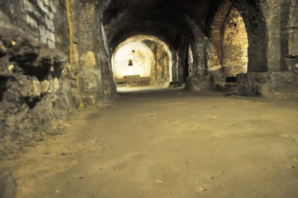 Cryptoporticus in Arles, France. Built by Romans it's More than 2,000 Years Old.
