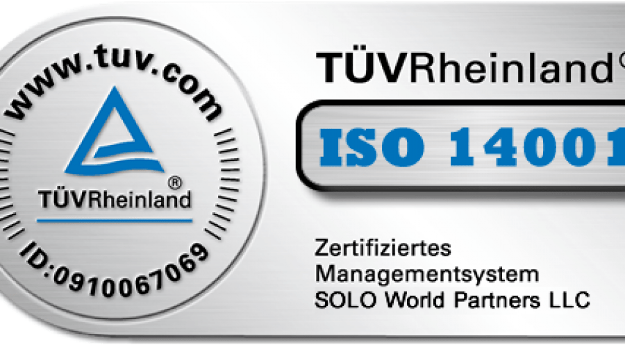 ISO 14001 Certification - SOLO World Partners