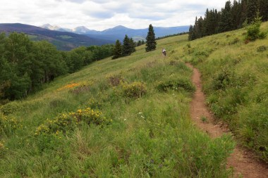 Hamilton Mesa Trailhead: Meadows and Mountain Peaks