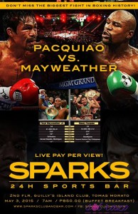 Pacman Mayweather pay per view at Sparks