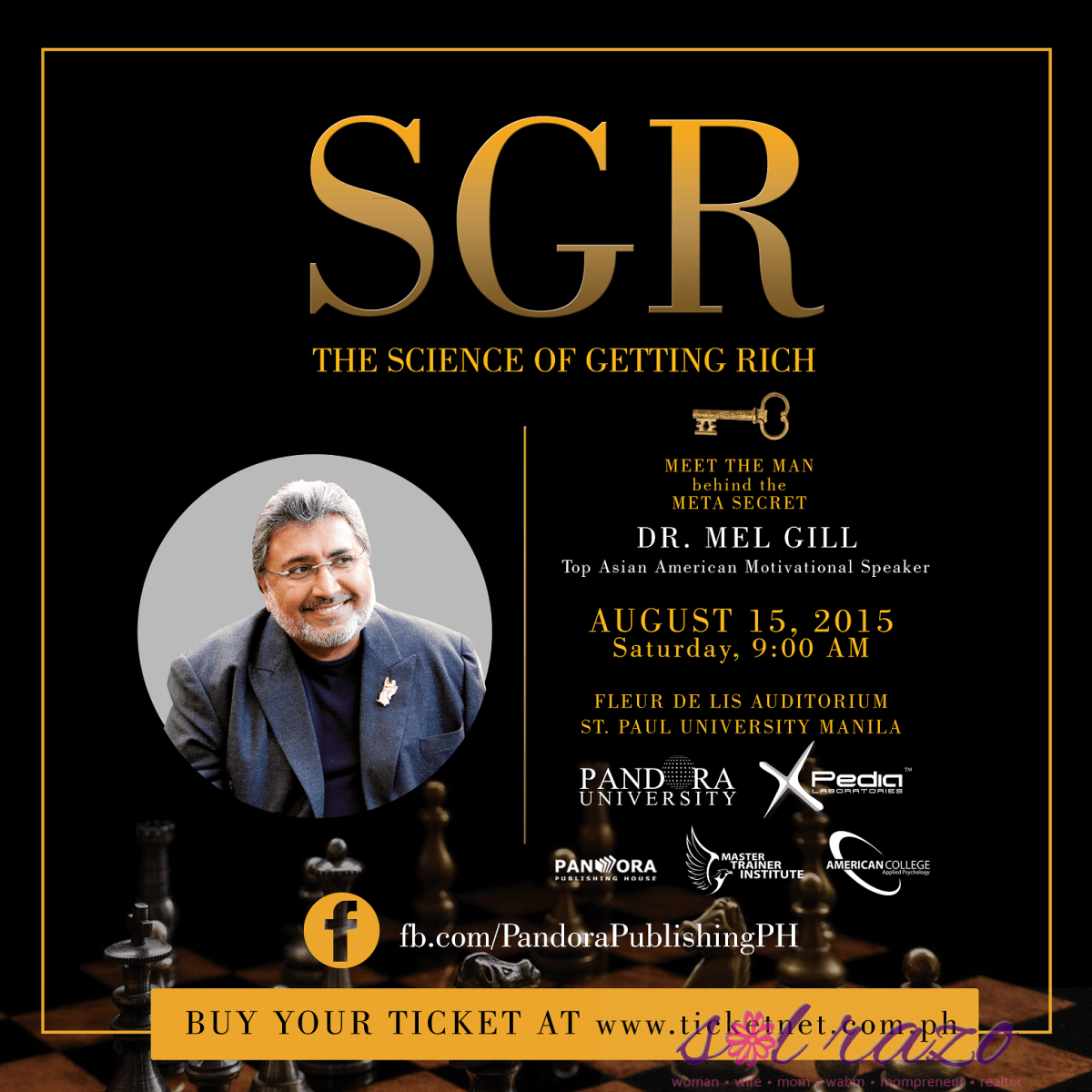 "Dr. Mel Gill's ""THE SCIENCE OF GETTING RICH"" on August 15"