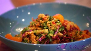 Golden Quinoa and Bokchoy Salad