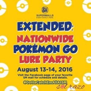 SM celebrates Pokemon Go Lure Party