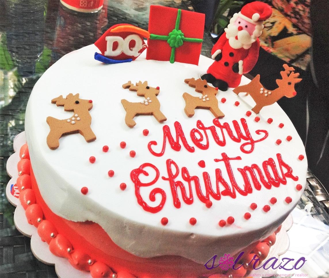 Dairy Queen Santa Reindeer Ice Cream Cake 2016
