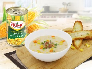 Bacon and MEGA Prime Corn Chowder
