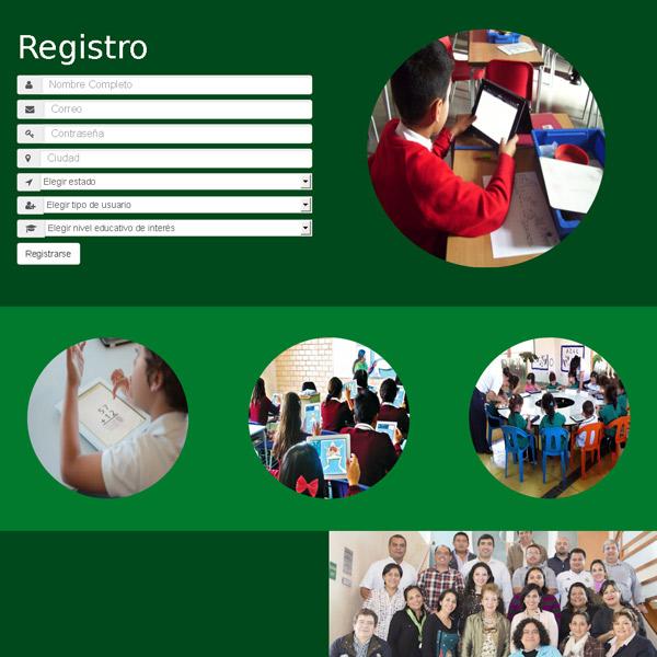 Registro de usuario Educación Mobile