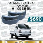 BALATA TRASERA H100 DIESEL 2.5L