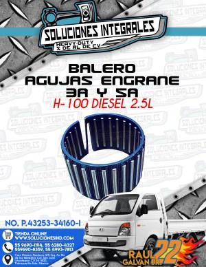 BALERO AGUJAS ENGRANE 3A Y 5A H100 DIESEL 2.5L