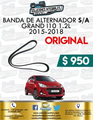 BANDA ALTERNADOR CON AIRE ACONDICIONADO ORIGINAL GRAND I10 1.2L 2015-2018