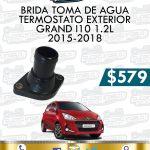 BRIDA TOMA AGUA TERMOSTATO EXTERIOR GRAND I10 1.2L 2015-2018