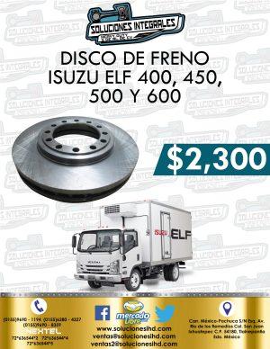 DISCO FRENO ISUZU ELF 400, 500 Y 600