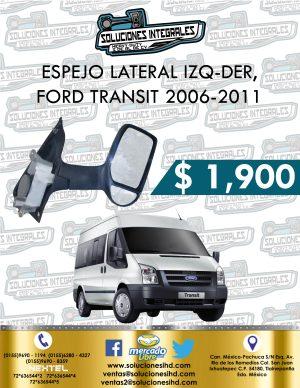 ESPEJO LATERAL FORD TRANSIT 2.2L 2006-2011