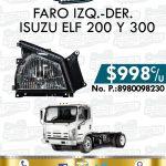 FARO DELANTERO ISUZU ELF 200 Y 300