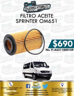FILTRO ACEITE SPRINTER OM651