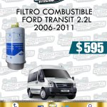 FILTRO COMBUSTIBLE FORD TRANSIT 2.2L 2006-2011