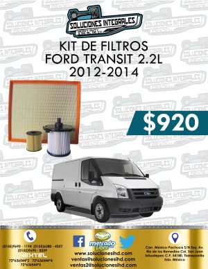 KIT FILTROS FORD TRANSIT 2.2L 2012-2014