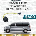 SENSOR FILTRO COMBUSTIBLE H1 VAN DIESEL 2.5L