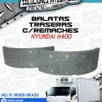 BALATA TRASERA CON REMACHES HYUNDAI H400