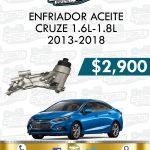 ENFRIADOR ACEITE CRUZE 1.6L-1.8L 2013-2018