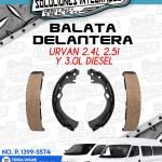 BALATA DELANTERA URVAN 2.4L, 2.5L Y 3.0L DIESEL
