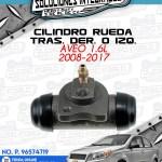 CILINDRO RUEDA TRAS. DER. O IZQ. AVEO 1.6L 2008-2017