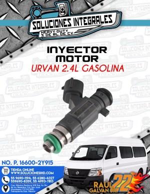INYECTOR MOTOR URVAN 2.4L GASOLINA