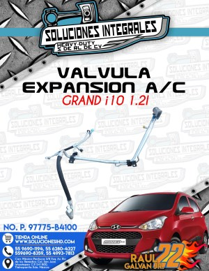 VÁLVULA EXPANSIÓN A/C GRAND i10 1.2L