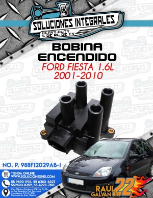 BOBINA ENCENDIDO FORD FIESTA 1.6L 2001-2010