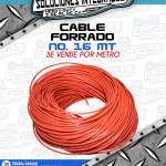 CABLE FORRADO No. 16 MT POR METRO