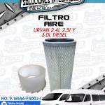 FILTRO AIRE URVAN 2.4L, 2.5L Y 3.0L DIESEL