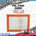 FILTRO AIRE CHEVY 1.6L 1996-2003