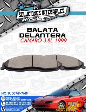 BALATA DELANTERA CAMARO 3.8L 1999