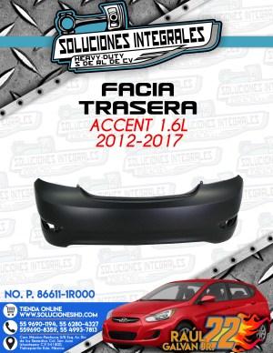 FACIA TRASERA ACCENT 1.6l 2012-2017