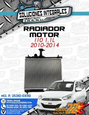 RADIADOR MOTOR i10 1.1L