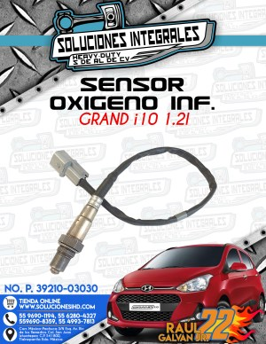 SENSOR OXIGENO INFERIOR GRAND I10 1.2L