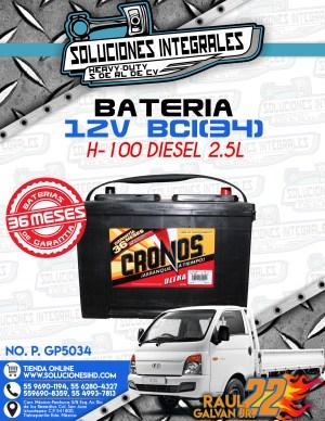 BATERIA CRONOS 12V BCI34 H100 DIESEL 2.5L