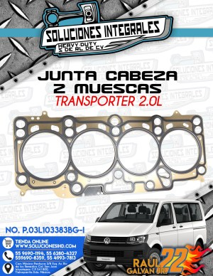 JUNTA CABEZA 2 MUESCAS TRANSPORTER 2.0L DIESEL