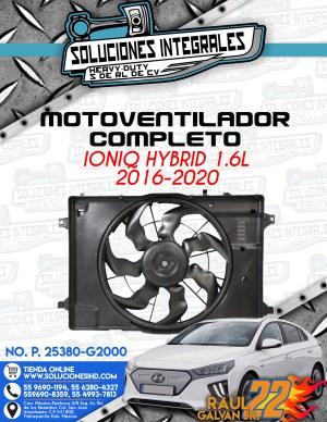 MOTOVENTILADOR COMPLETO IONIQ HYBRID 1.6L 2016-2020