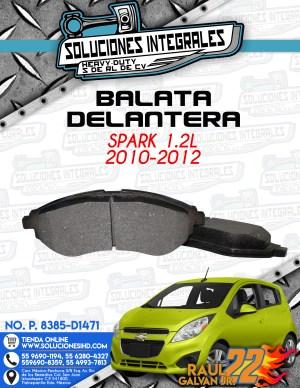 BALATA DELANTERA SPARK 1.2L 2010-2012