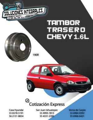 TAMBOR TRASERO C/MAZA CHEVY 1.6