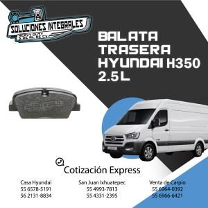 BALATA TRASERA HYUNDAI H350 2.5L ORIGINAL