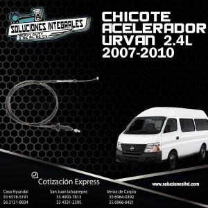 CHICOTE ACELERADOR URVAN 2.4L 07-10