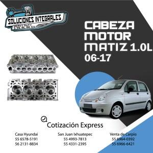CABEZA MOTOR MATIZ 1.0L 2006-2017