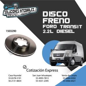 DISCO FRENO DELANTERO FORD TRANSIT 2.2L 06/14