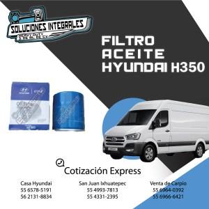 FILTRO ACEITE HYUNDAI H350 ORIGINAL