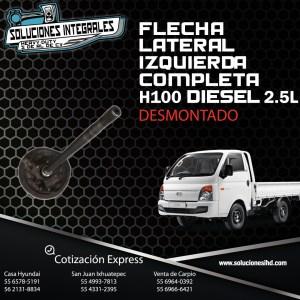 FLECHA LATERAL IZQUIERDA COMPLETA DESMONTADA H100 DIESEL 2.5L