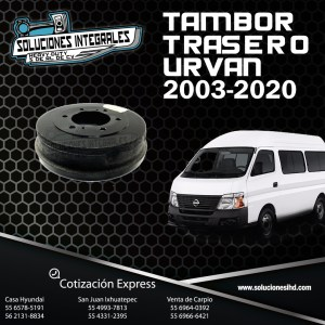 TAMBOR TRASERO URVAN 2003-2020