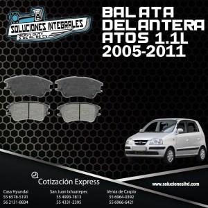 BALATA DELANTERA ATOS 1.1L 05/11
